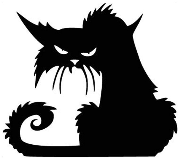 Black cat sticker: Get inspired for decorating your home for Halloween with a cat theme