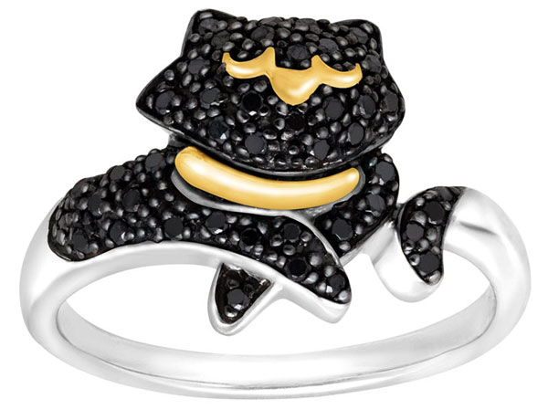 Black Diamond Cat Ring