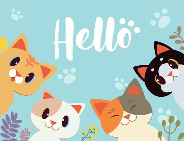 character-cartoon-cat-say-hello-with-flower-background_77984-110.jpg