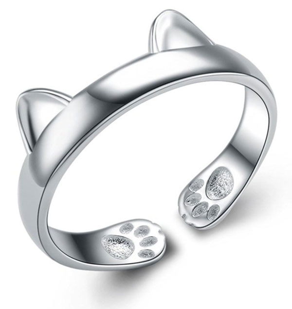 Cute Cat Ear Adjustable Open Ring