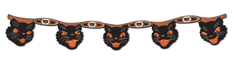 Cat Garlands for Halloween
