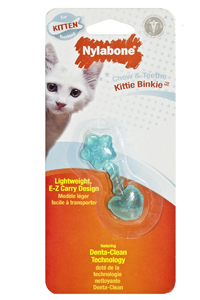 How To Stop Problem Chewing In Cats: Nylabone Kitten Chew 'n Teethe Kitty Binkie