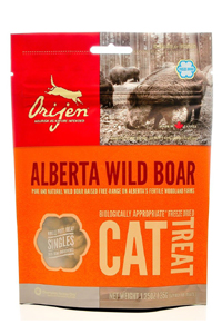 Orijen freeze dried boar treats can help with problem chewing in cats. Click to read more.