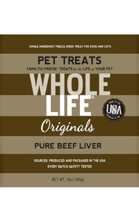 Whole life natural freeze dried pet treats can help if your cat has a chewing problem