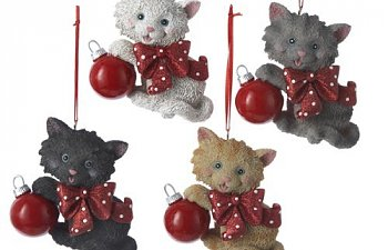 Nine Christmas Ornaments That Tell The World You're Crazy About Cats, And One Menorah Too!