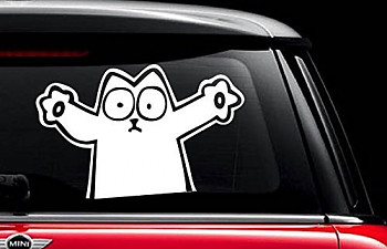 Cat Car Decals Stickers The Cat Site - Vehicle decals and stickers